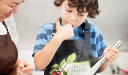Cooking with Kids at Lake House