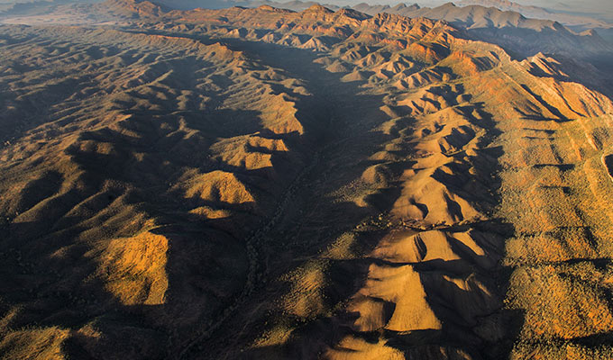Get a bird's eye view of the Flinders Ranges