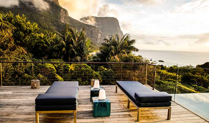 Sky high at happy hour on Lord Howe Island