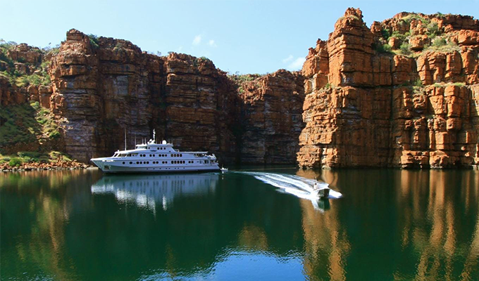 True colours aboard luxury cruise ship True North on the Kimberley cruise
