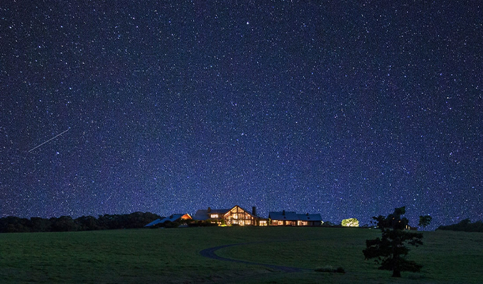 Stargazing at Spicers Peak Lodge